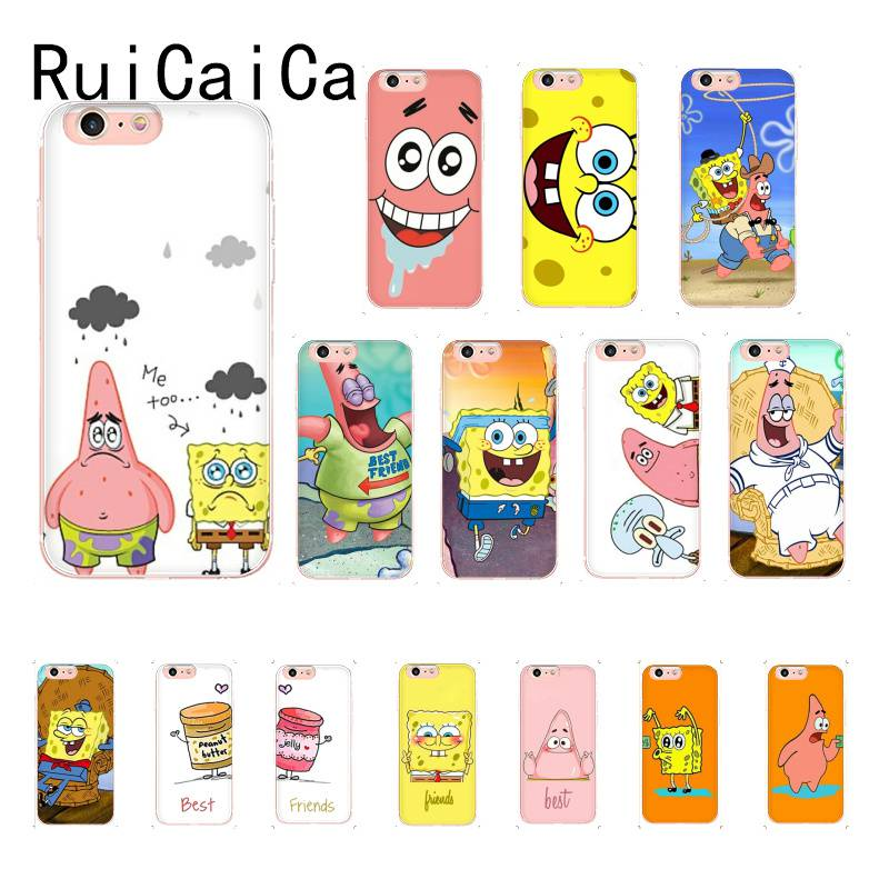 RuiCaiCa best friends forever <font><b>BFF</b></font> Spongebob Newly Arrived Phone <font><b>Case</b></font> for <font><b>iPhone</b></font> 8 7 6 6S Plus X XS MAX 5 5S XR 11 11pro 11promax image