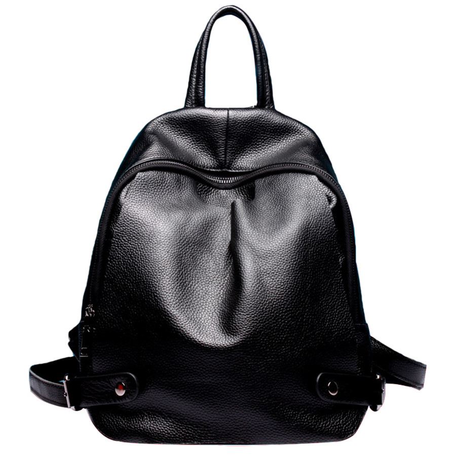 Genuine leather backpack women bags fashion Girls School Bags Multifunctional shoulder bag Zipper bolsa mochila feminina bagpack