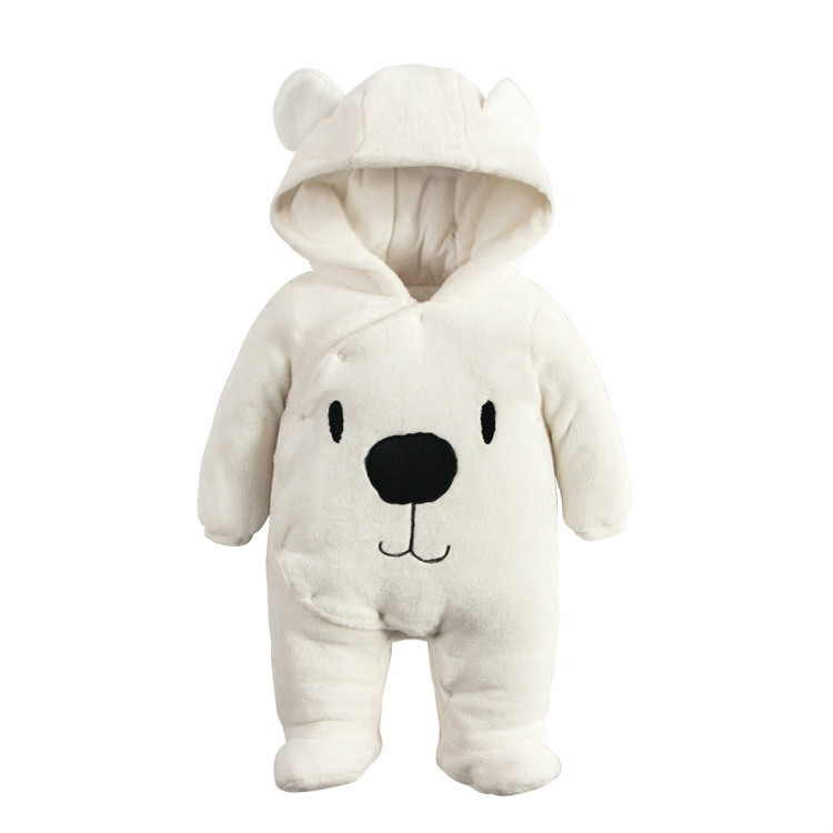 Warm Baby Rompers Winter Baby Clothing for Newborns Fleece Costume Bear Cotton-padded Overalls Jumpsuits Animal Boy Girl Clothes tribros winter style baby clothes baby girl boy clothes cute bear hoodie thicken jumpsuits baby costume coveralls rompers