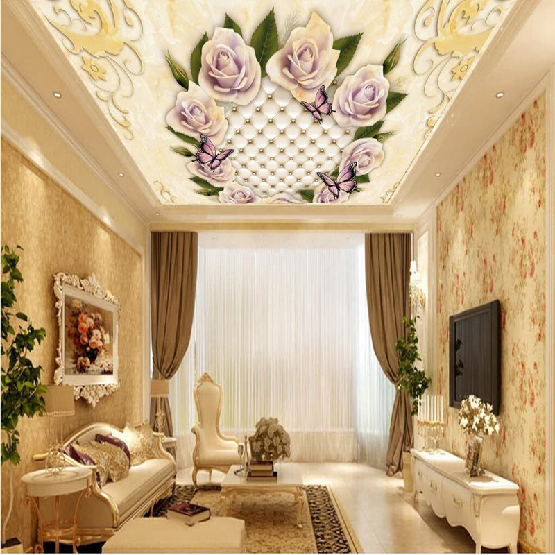 Custom 3D Wall Murals Photo Wallpaper Modern 3D Wall Murals Flowers Ceiling Murals Wall Paper for Living Room Study Wall Murals sea world 3d wallpaper murals for living room bedroom photo print wallpapers 3 d wall paper papier modern wall coverings