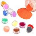 12 Colores de Acrílico Tallado En Polvo Polvo UV Gel Diseño 3D Inclina La Decoración de Uñas de Manicura Art Dropship