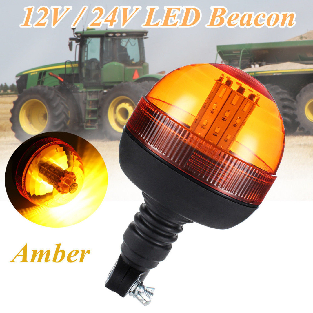 High Quality 40 LED Car Truck Emergency Flash Strobe Rotating Beacon Light Super Bright Amber Lamp 12V/24V
