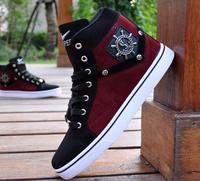 Hot New Product High Help Men Reversed Hair Joining Together Shoes Non Slip Breathable Cowboy Canvas