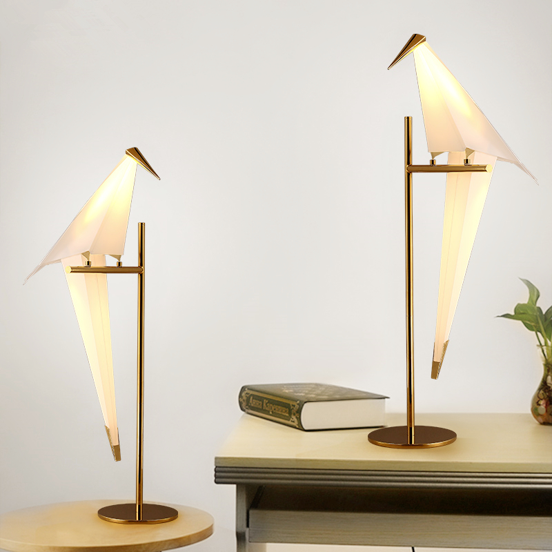 Desk Lamps Table lamp bedroom bedside lamp creative Nordic personality modern simple led room bedside lamp tuda glass shell table lamps creative fashion simple desk lamp hotel room living room study bedroom bedside lamp indoor lighting