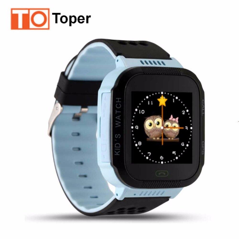 """imágenes para Toper Q528 Kids Tracker GPS Reloj Niños Reloj Inteligente con la Luz del Flash de 1.44 """"Pantalla táctil Llamada SOS Localizador para Niños Kid"""