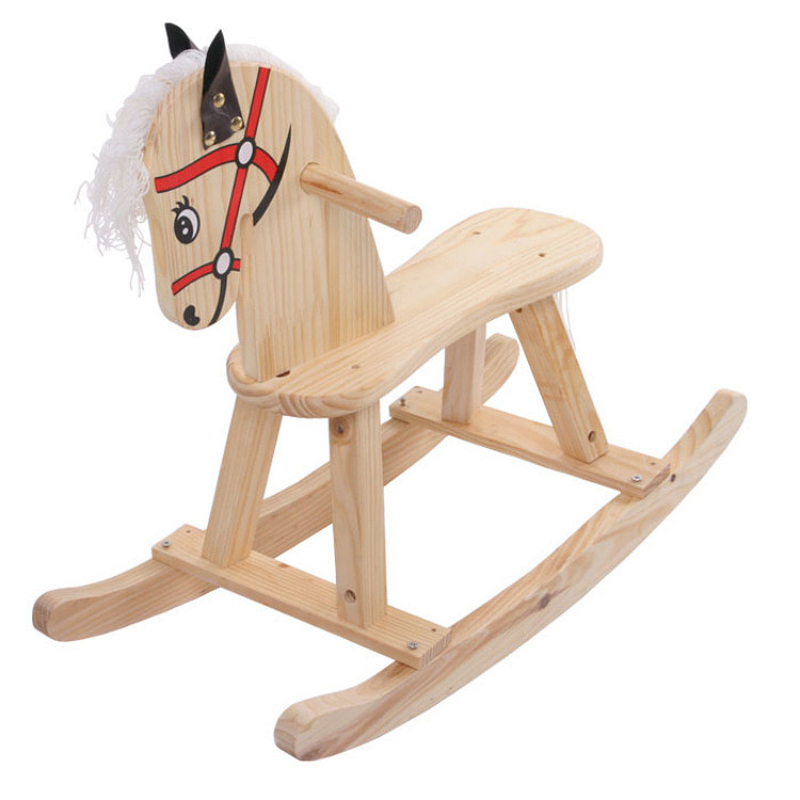 Let's make Baby Wooden Toys Children Wooden Rocking Horse Birthday Gift For Baby Montessori Toys Building Blocks 120pcs cartoon wooden jigsaw puzzle education toy for kid children baby montessori wooden toys