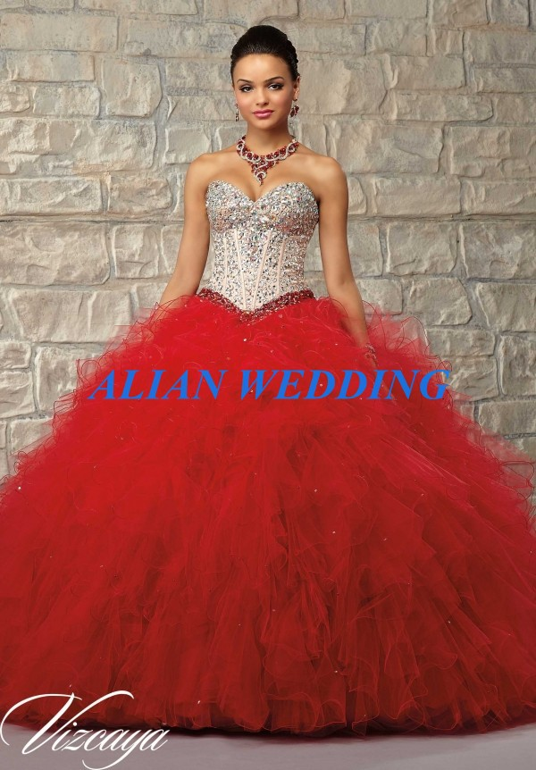High Quality Red Sweet 16 Dress-Buy Cheap Red Sweet 16 Dress lots ...