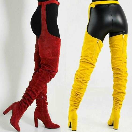 Sestito 2019 Women Sexy Side Zipper Thigh High Boots Female Belt Trousers Boots Ladies Flock Pointed Toe Suqare High Heels BootsSestito 2019 Women Sexy Side Zipper Thigh High Boots Female Belt Trousers Boots Ladies Flock Pointed Toe Suqare High Heels Boots