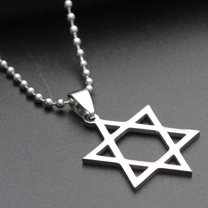 Classic Star of David Pendant necklace Solomon Seal Six-pointed Star Necklace Fashion stainless steel jewelry gift for men women