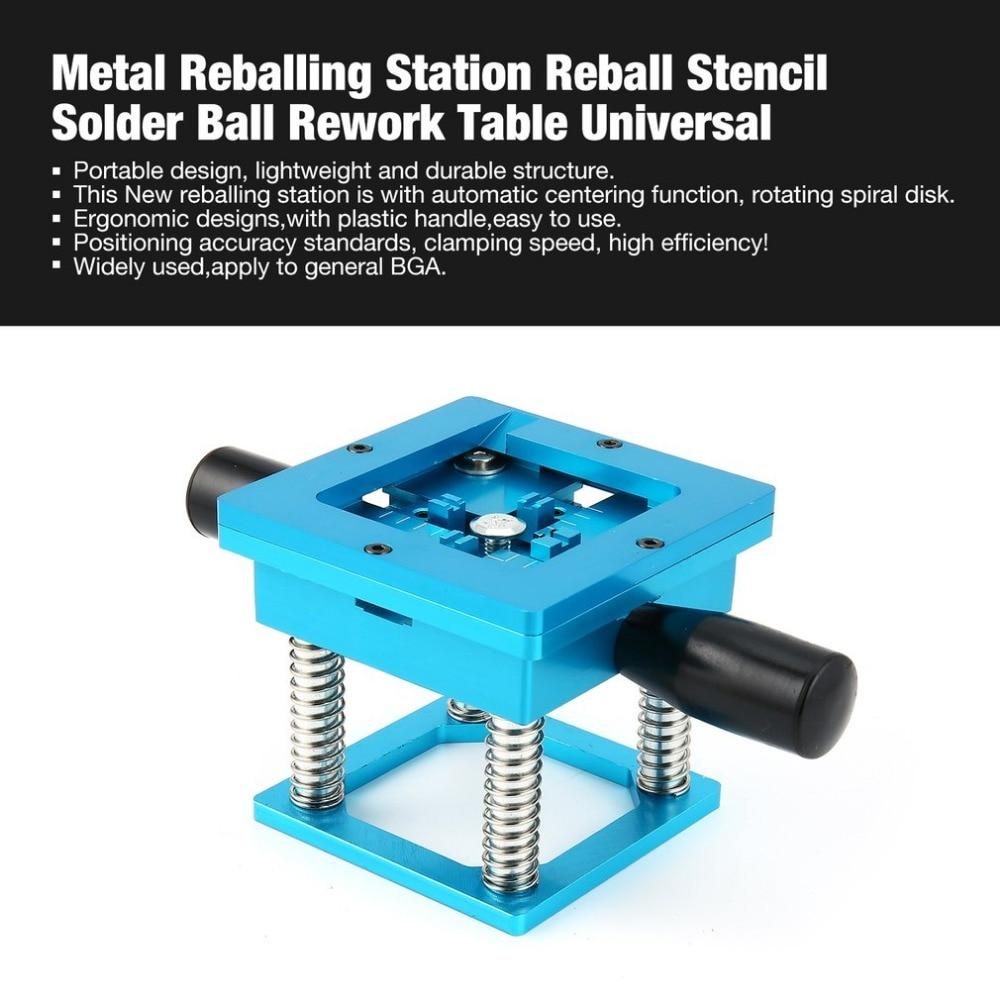 Meatl BGA Reballing Soldering Station Reball Kit Magnetism Lock Universal Stencil Solder Ball Rework Table Plant Universal цена