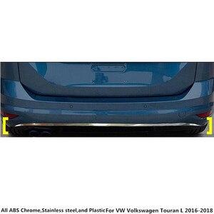 Защита кузова автомобиля бампер накладка из нержавеющей стали задний хвост Нижняя педаль капота для Фольксваген Touran L 2016 2017 2018 2019