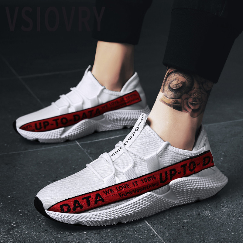 VSIOVRY Summer Men Sneakers 2018 Outdoor Running Shoes Breathable Comfortable Fly Weave Sport Shoes For Male Krasovki Trainers