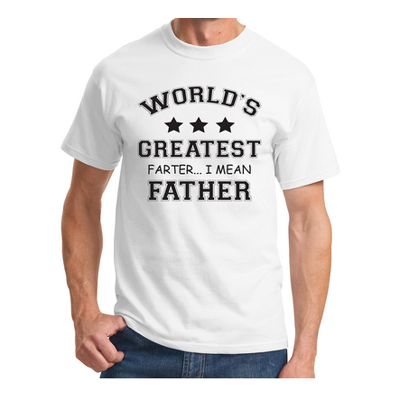 e1b16e5d New Mens T Shirts Worlds Greatest Farter Funny Fathers Day Shirt New Dad  Gift Tee Poop Humor Tee Plus Size Casual Shirt S-3XL