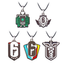 Filmore Game Tom Clancy's Rainbow Six Siege Necklace Invitational 5 Logo Colorful Pendant Necklace Friendship Accessories цена и фото