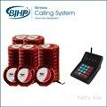Frete Grátis Sem Fio Restaurante Sistema de Campainha (1 pagers teclado + 50 vermelho + 5 carregador bases)
