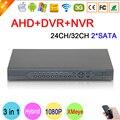HI3531A XMeye 32CH/24CH 2 SATA 1080P/1080N/960P/720P/960H 3 in 1 Hybrid NVR AHD DVR Surveillance Video Recorder Free Shipping