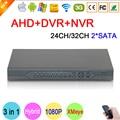 Hi3531a xmeye 32ch/24ch 2 sata 1080 p/1080n/960 p/720 p/960 h 3 en 1 hybrid nvr ahd dvr grabador de video vigilancia envío gratis