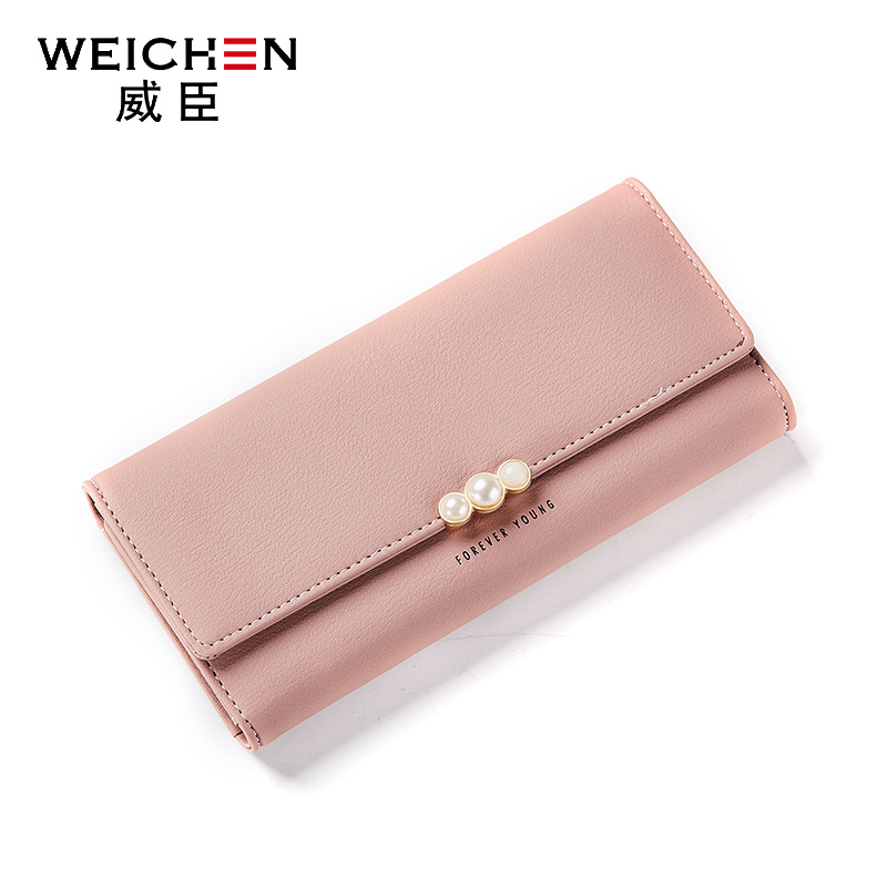 2018 new fashion women wallets brand long wallet solid PU solid color high quality zipper pouch wallets for women Korean style