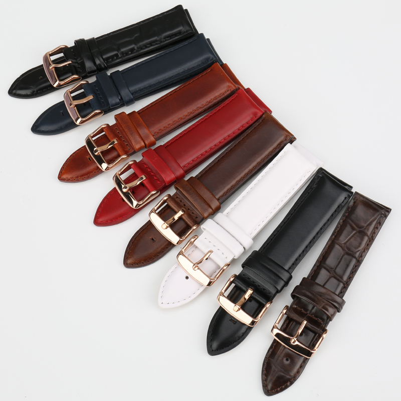 MAIKES Watch Accessories Watch Strap For Daniel Wellington Men Women Classic Black Watch Band with Rose Gold Clasp Wrist Band
