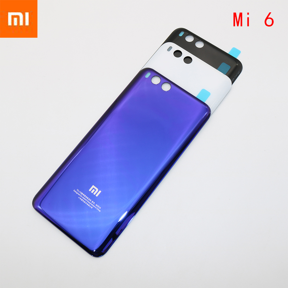 New Housing Glass Battery Back cover For Xiaomi 6 Mi 6 Mi6 Black White Blue ReplacementNew Housing Glass Battery Back cover For Xiaomi 6 Mi 6 Mi6 Black White Blue Replacement