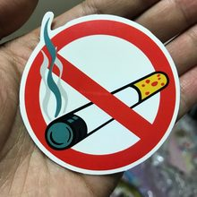3 Pcs Sign No Smoking Tips Logo Peringatan Tahan Air Koper untuk Laptop Gitar Bagasi Skateboard Stiker Sepeda(China)