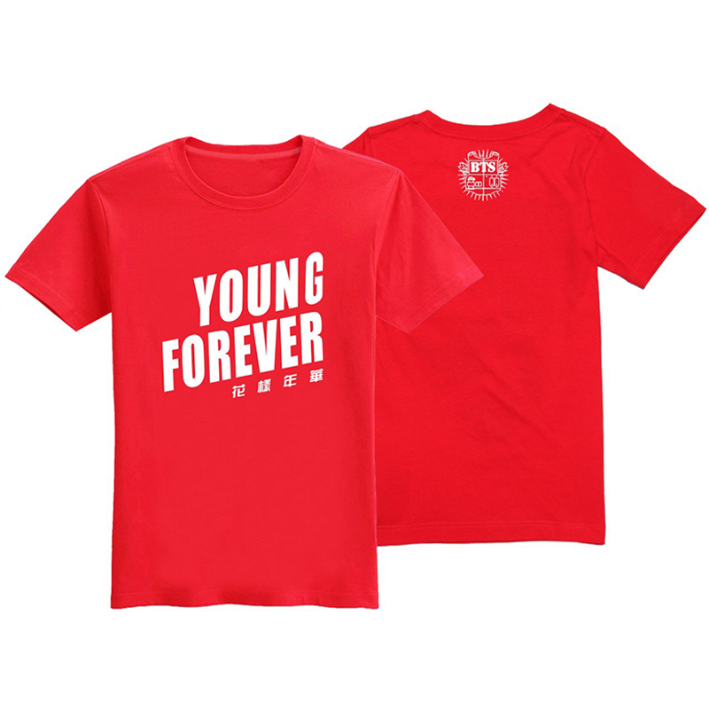 KPOP BTS Young Forever Bangtan Boys 2016 Album Cotton Clothes Tshirt Clothing T-shirt T Shirts k pop summer Tshirts tops tees