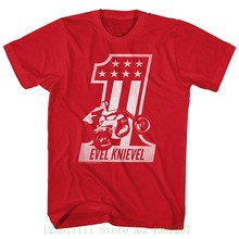 cd75da44 Evel Knievel Mens T Shirt Official Red One 100% Cardinal Cotton Sizes Sm -  5xl