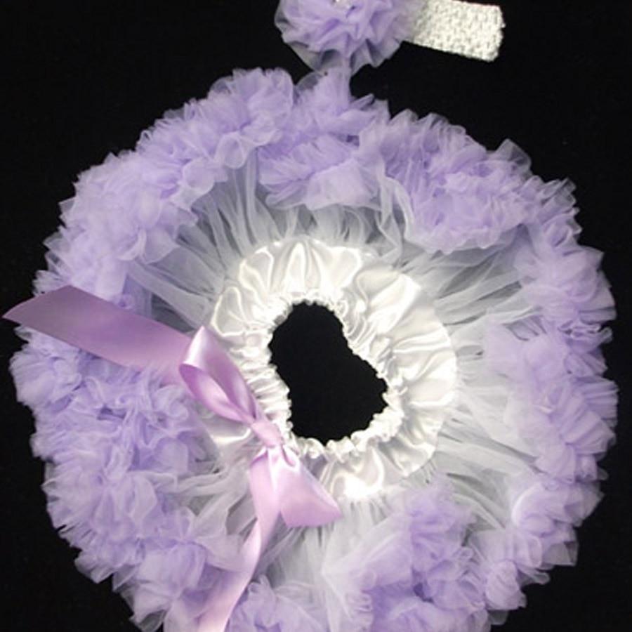 Newborn Baby Skirt White Lilac Baby Tutu Skirt Headband
