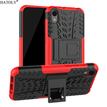 For Cover Huawei Y5 2019 Case Anti-knock Heavy Duty Hard Armor Stand Silicone Phone Bumper