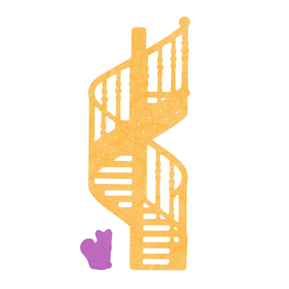 escaleras de caracol de metal gato plantillas de troqueles de corte para diy