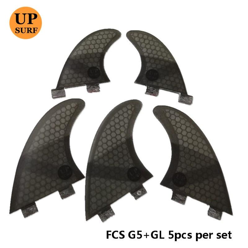 4Pcs / 5pcs FCS Fins G5 GL Fin Honeycomb Fiberglass Fins G5 + GL - Су спорт түрлері - фото 2