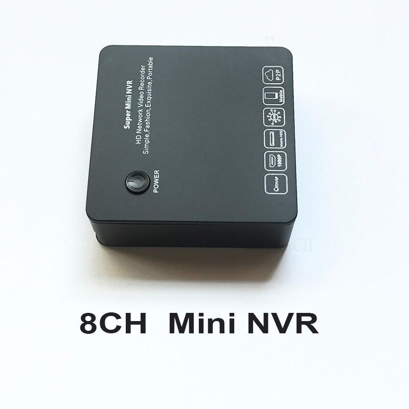 ONVIF Mini NVR 8CH DVR VGA et HDMI 1080 P P2P Nuage Réseau enregistreur vidéo pour IP CCTV Caméra de Sécurité soutien RTSP Multi-langue