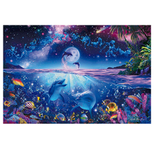 DIY diamond painting sea world dolphin embroidery Marine life Coral Mosaic fish cross stitch decor