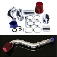 цена на Universal 76mm/3 Aluminium Car Cold Air Intake Filter System Hose Pipe Tube Kit Car Accessories