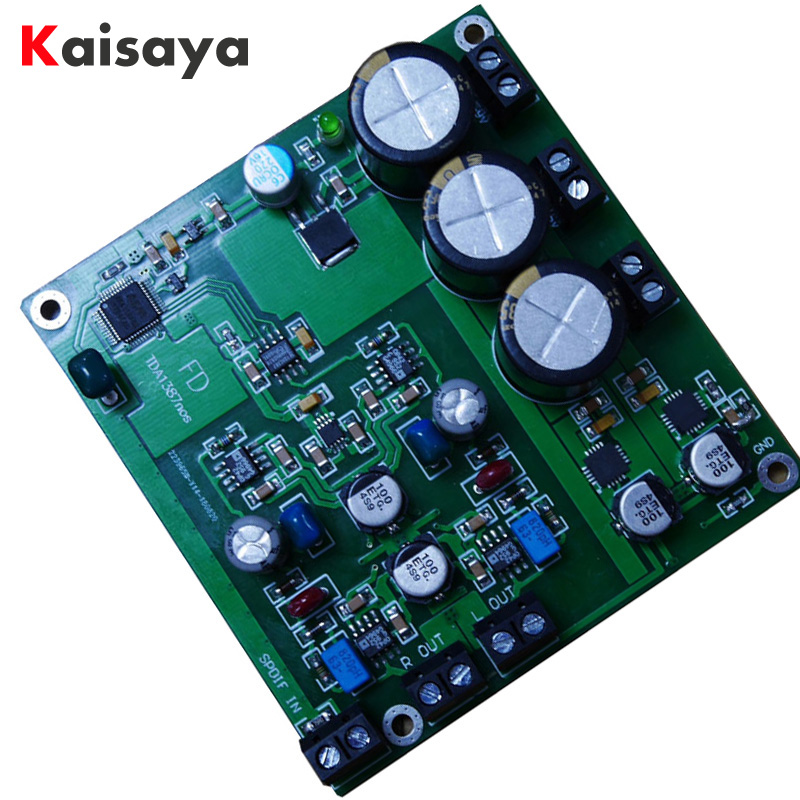 New TDA1387 dac audio decoding dac amp board (nos mode) associated with tda1541 support 24bit 192K portable dac lc 32ku63 dac 24t073 with caa315wa01c used disassemble