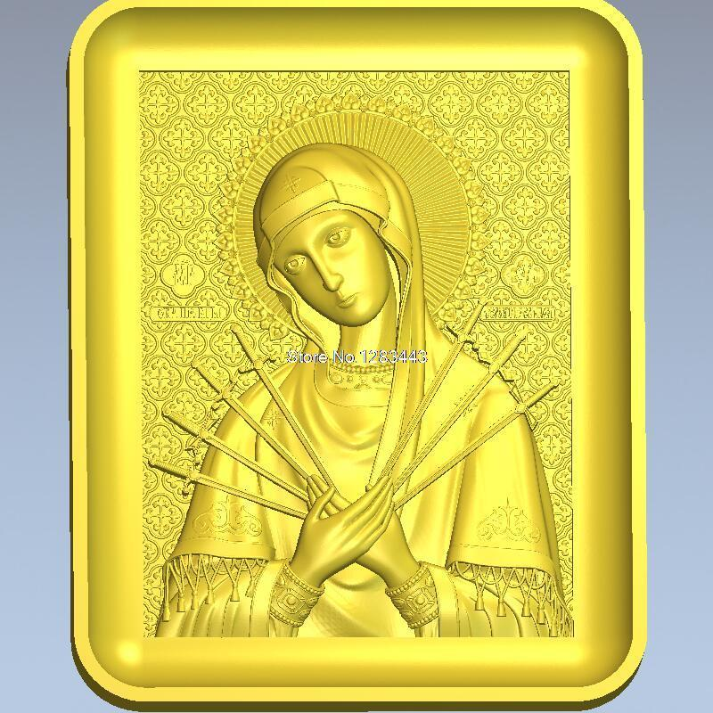 High quality 3d model relief  for cnc or 3D printers in STL file Semistrelnaya_1 martyrs faith hope and love and their mother sophia 3d model relief figure stl format religion for cnc in stl file format