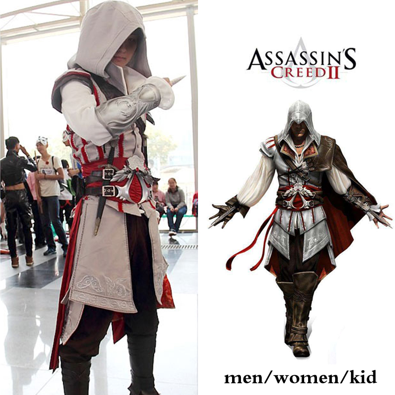 8 Size Game Cosplay Costume Unity Arno Victor Dorian Full Set for Women Men Children Halloween Party Christmas Cos Ezio Auditore image