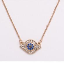 Купить с кэшбэком JINGYANG Jewellery Fish Blue Eye Pendant Necklace Earrings Stainless papa legba Steel For Women Accessories Fashion olho grego
