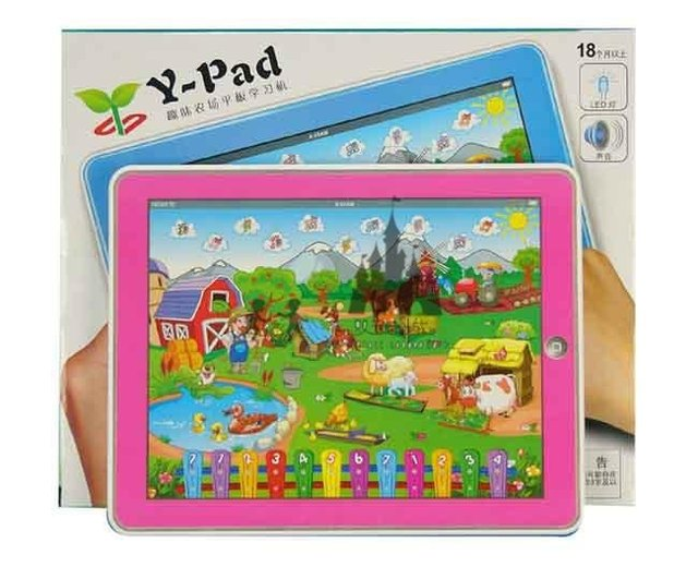 Free shiping, ipad table computer learning Machine, Y-pad interesting farm kid learning machine, intelligence/educational toys