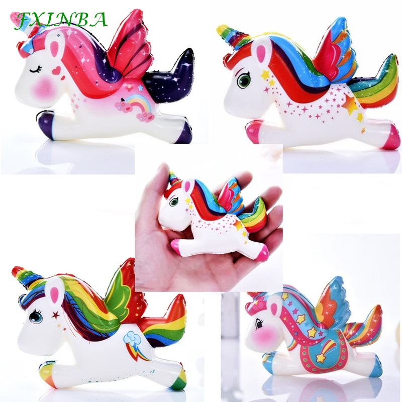 FXINBA 12cm Unicorn Cute Squishy Jumbo Slow Rising Toys Antistress Smooshy Mushy Decor Animal Squishies Pegasus Squeeze ScentedFXINBA 12cm Unicorn Cute Squishy Jumbo Slow Rising Toys Antistress Smooshy Mushy Decor Animal Squishies Pegasus Squeeze Scented