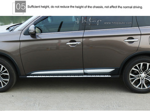 """Image 4 - Thicken running board side step bar for Mitsubishi Outlander 2016 2020,""""CXK"""" genuine,load 300kg,HITOP SUV experiences 7 years"""
