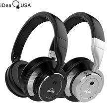 Ideausa V200 Active Шум отмена ANC Bluetooth наушники за ухо Hi-Fi Беспроводной наушники с микрофоном до 16 часов воспроизведения время