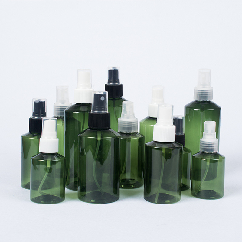 3pcs 50ml/100ml/150ml/200ml Dark Green Shoulder Bottle Cosmetic Sub-bottle Spray Bottle Portable Mist Bottle Wholesale BQ108