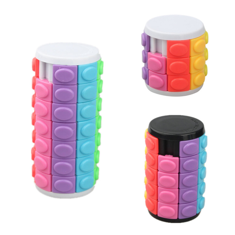 Color Magic Tower Cube Educational 3/5/7 Layer Creative Sliding 3D Puzzle Toy Antistress Toys for Children(China)