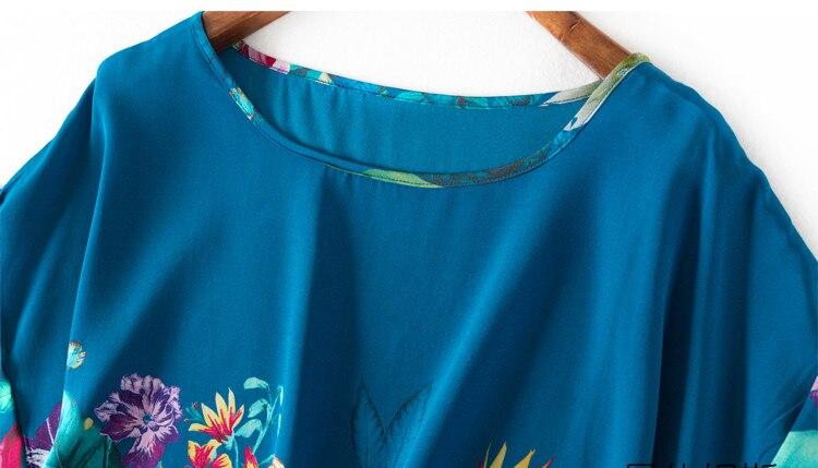 Mujeres Verano Corta De Blusa Ol Oficina En Las Seda Natural Cuello Casual Tops Real Camisa Básica O Blusas Manga qrEYr