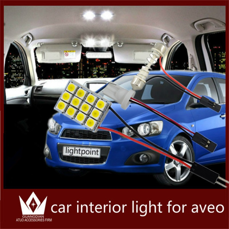 Guang Dian auto led light Interior lamp Roof bulb Dome Panel Reading light indoor led Trunk Light accessories for Chevrolet Aveo