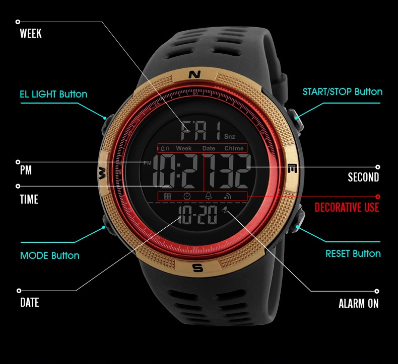 HTB1VCQNh6ihSKJjy0Flq6ydEXXaU SKMEI Brand Mens Sports Watches Luxury Military Watches For Men Outdoor Electronic Digital Watch Male Clock Relogio Masculino