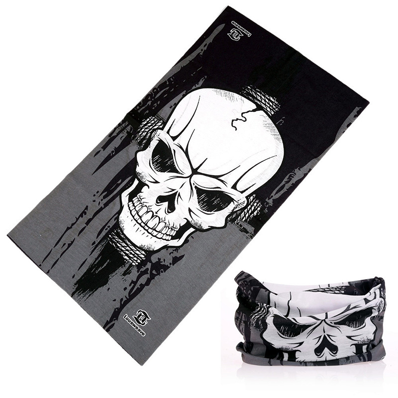 2018 New Hip Hop Magic Seamless Bandanas Skull Print Sports Mask Motorcycle Cycling Face Bandana Tubular Headband Scarves Cool