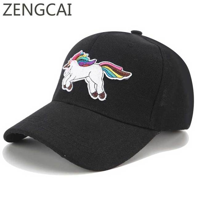 New Unicorn Baseball Cap Men Dad Hat Summer Girls Embroidery Caps Cartoon  Snapback Adjustable Casual Cute Hip Hop Hats For Women. 1 order 81e4d02a3f9
