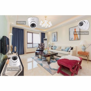 Image 4 - AZISHN 2MP Real Time 25FPS Security Audio IP Camera 1080P ONVIF CCTV Indoor Dome Microphone P2P Email Motion Detect 48V POE